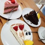 Rasbperry, Chocolate Tort and traditional cheesecake