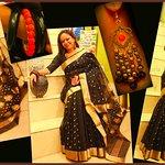Black Chanderi Silk Saree (Handwoven)