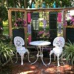 Enjoy that bottle of Finger Lakes Wine in the back garden area!
