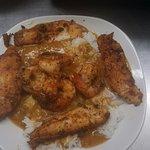 Blackened Catfish and Shrimp Etouffee'