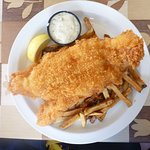 Fish (cod) and chips