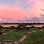 Sunset over the waterway