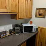 Micro, fridge, coffee maker amenities. Ours was not a kitchenette cabin.