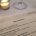 Special anniversary menu!