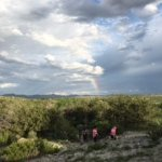 Rainbow over Miraval, desert