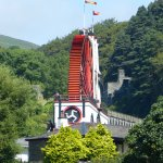 Approach to the Laxey Wheel 24 July 2017.