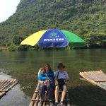 Bamboo raft!