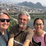 The top of Fubo Hill. That is our AMAZING guide, Joyce Chen!!