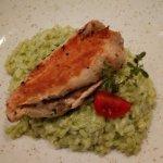 """""""lit Pfillerlingen gefülltes Hühnerfilet auf Bärlauch Risotto"""" .... just one of the great dishes"""