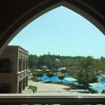 Corner room overlooking west wing pool