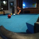 well maintained pool tables.