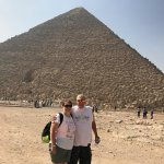 Outside of Great Pyramid with entrance to the tomb