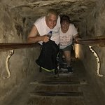 inside the Great Pyramid climbing the stairs