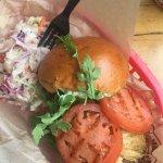 Italian Stallion Burger! Yummy... arugula and prsto