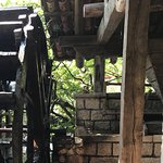 The original Water mill still located in the restaurant.