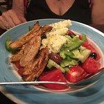 Greek Horiatiki with Chicken