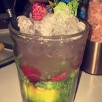 Raspberry Mojitos are fantastic!