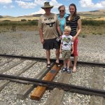 """The site of the famous """"2 Trains Meeting - Golden Spike"""" photograph"""