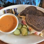 Reuben Sandwich and Beer Cheese Soup (The one soup they feature EVERYDAY!!!)