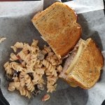Carrot Island Turkey sandwich with pasta salad