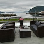 Vista dalla terrazza del ristorante.