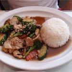 Thai Teryaki Beef for lunch.