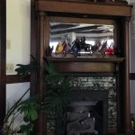 The fireplace in the main common area. Yeah... confederate flags... I know...