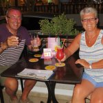 Enjoying our evening at Billys Bar