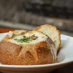 Clam Chowder in a Sourdough Bread Bowl