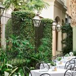 The Planters Inn courtyard is a stunning & serene place to enjoy breakfast.