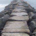 The sea wall.