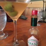 A hot and dirty martini by adding Tabasco sauce