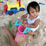 The sandbox for kids to enjoy