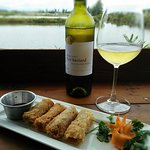 Enjoy our duck spring rolls with a crisp, white wine.