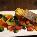Trout with vegetables and baby potatoes!