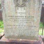 Headstone of John McAdam's grave.