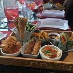 The appetizers plate to share is to DIE for