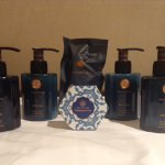 The lovely HANN toiletry set (shampoo, Conditioner etc)