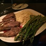 Lam Chops, Couscous, Asparagus and Blueberry Compote