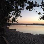 Sunset on lakeside
