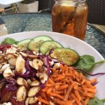 A delicious locally sourced salad and the new deck