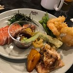 Sashimi and tempura