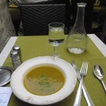 My first course: soupe de legumes (vegetable soup)