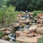 waterfall on the grounds