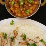 At Masala Loma Linda: Basmati Rice and Chana Masala.   Photo Larry R. Erickson