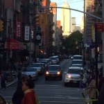 An photo taken near the Bowery Hanbee looking towards the Empire State Building.