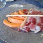 L'Assiette de paleta Ibérique « Bellota » et Melon de Pays