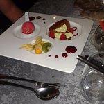 dessert pistache framboise