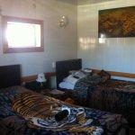 Warm small room.