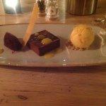 Chocolate, beetroot and orange marmalade ice cream